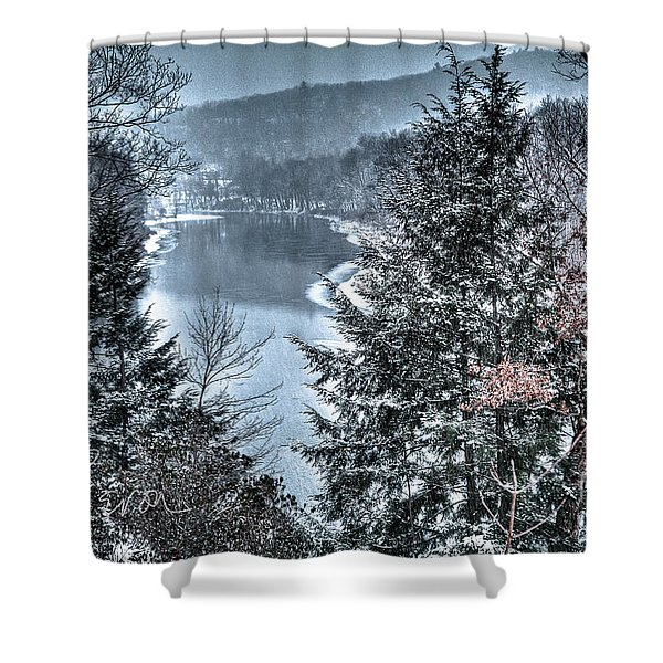 Snow Squall Shower Curtain