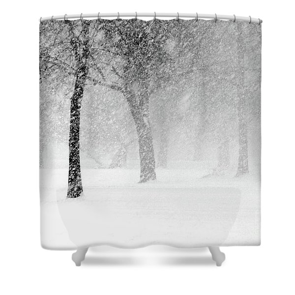 Snow Storm At Starved Rock Shower Curtain
