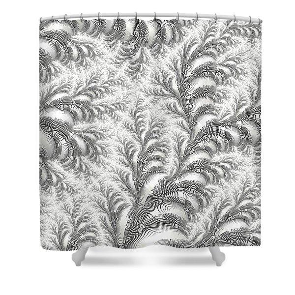 Snow Vines Shower Curtain
