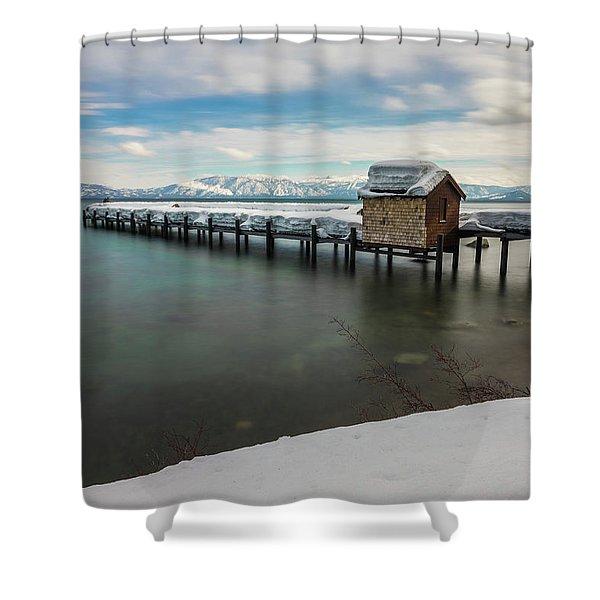 Snow White Pier Shower Curtain
