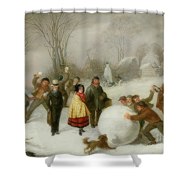Snowballing   Shower Curtain