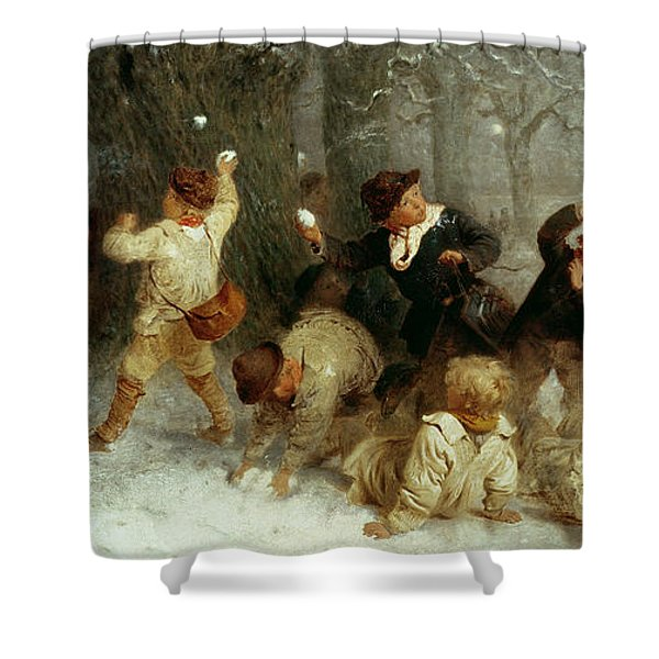 Snowballing Shower Curtain