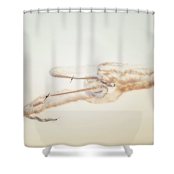 Snowbirds Over English Bay Shower Curtain