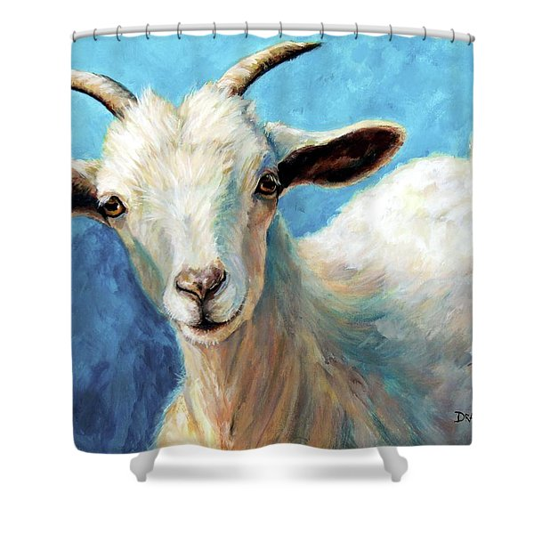 Snowflake, A Baby Cashmere Goat Shower Curtain