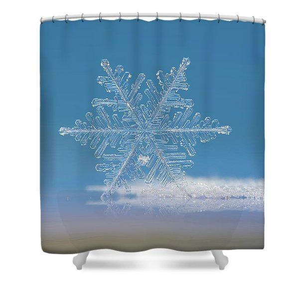 Snowflake Photo - Cloud Number Nine Shower Curtain
