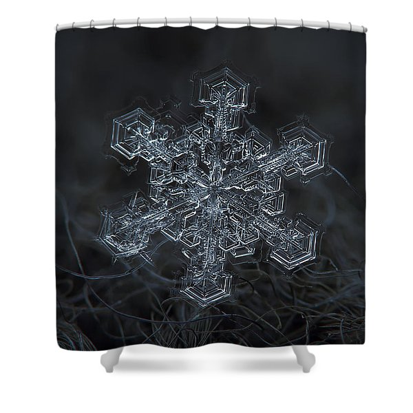 Snowflake Photo - Complicated Thing Shower Curtain