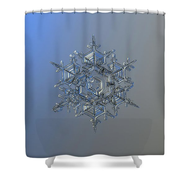 Snowflake Photo - Crystal Of Chaos And Order Shower Curtain