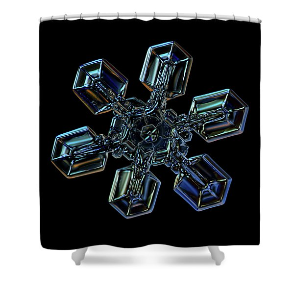 Snowflake Photo - High Voltage IIi Shower Curtain