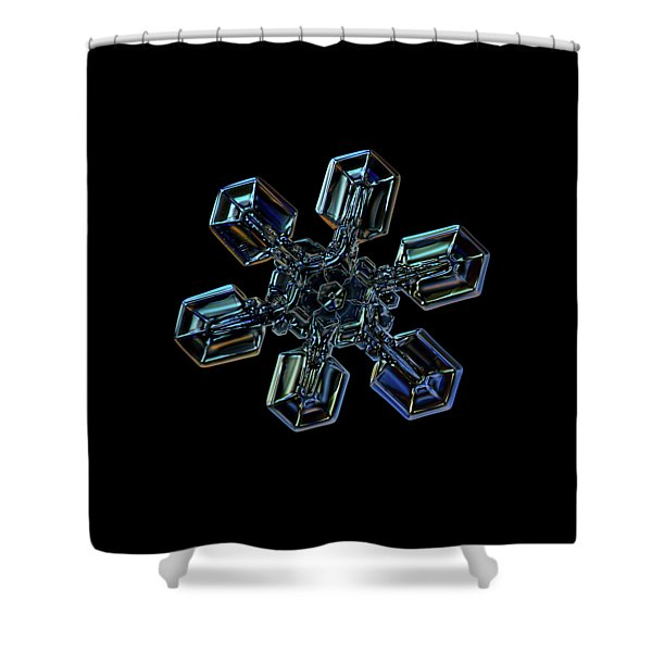 Snowflake Photo - High Voltage IIi Shower Curtain