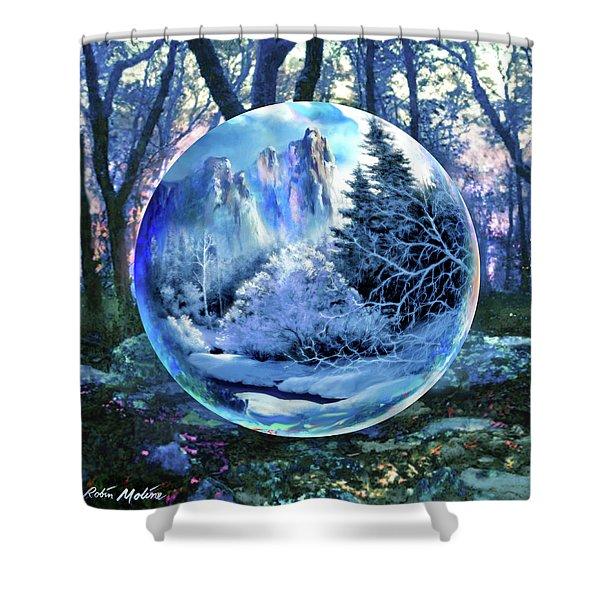 Snowglobular Shower Curtain