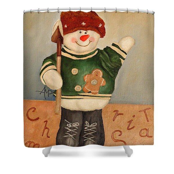 Snowman Junior Shower Curtain