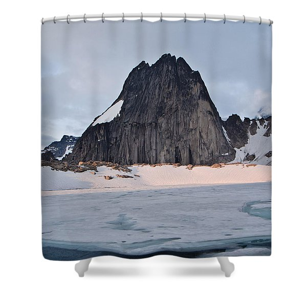 Snowpatch Spire Shower Curtain