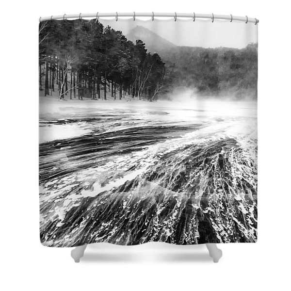 Snowstorm Shower Curtain