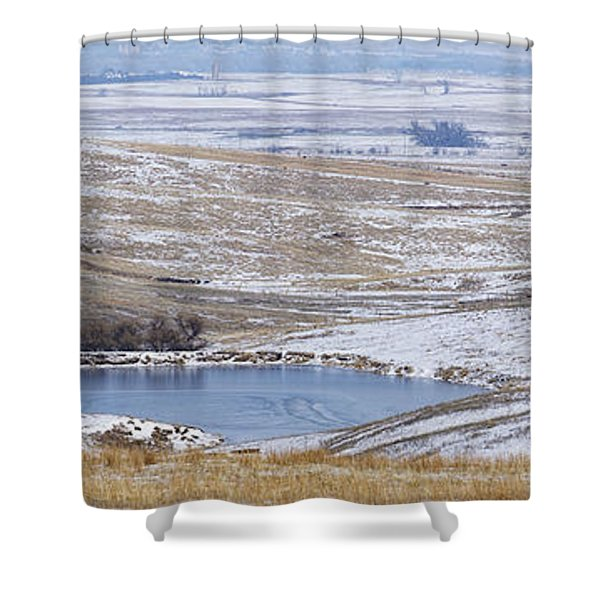 Shower Curtain featuring the photograph Snowy Hills 2 by Rob Graham