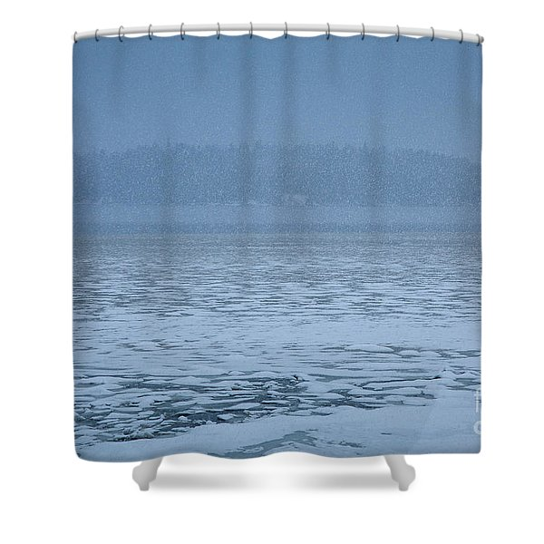 Snowy Island Shower Curtain