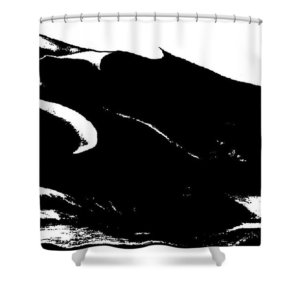 Snowy Mountain Abstract Shower Curtain