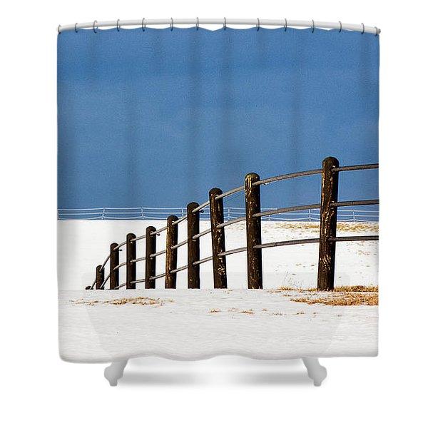 Snowy Pasture Shower Curtain