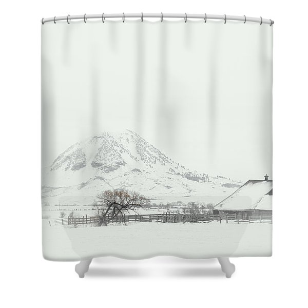 Snowy Sunrise Shower Curtain