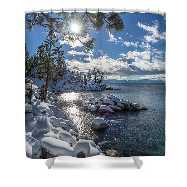 Snowy Tahoe Shower Curtain