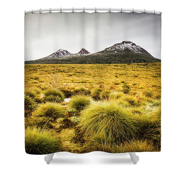 Snowy Tasmania Mountain Top Shower Curtain