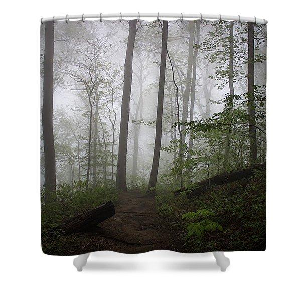 So Foggy Shower Curtain