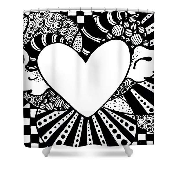 Soaring Heart  Shower Curtain