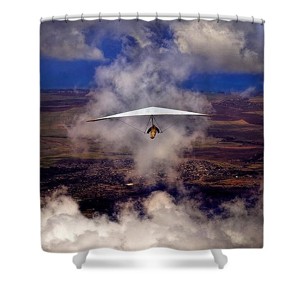 Soaring Through The Clouds Shower Curtain
