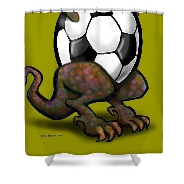 Soccer Zilla Shower Curtain