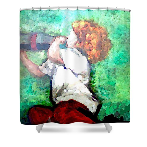 Shower Curtain featuring the digital art Soda Pop Child by Deleas Kilgore