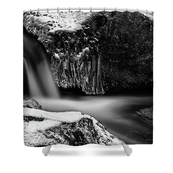 soft and sharp at the Bode, Harz Shower Curtain