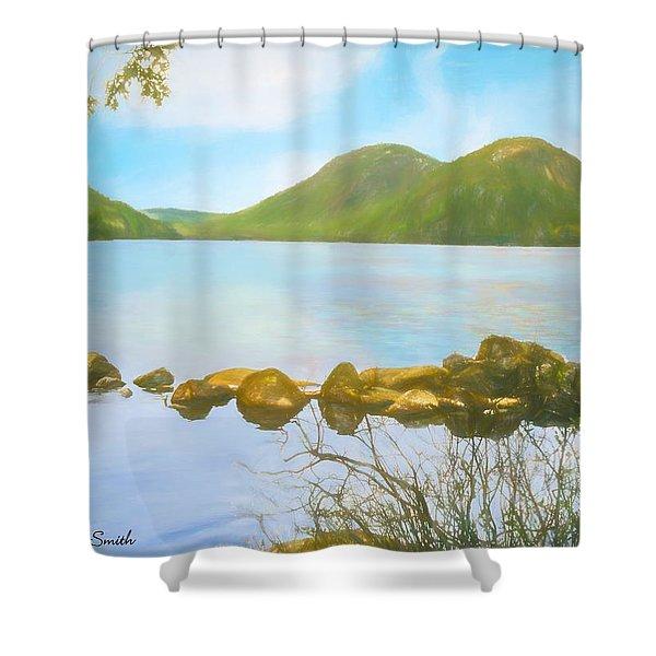 Soft Art Photograph Jordan Pond Acadia Nat. Park Maine Shower Curtain
