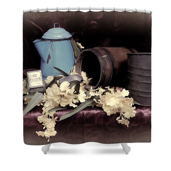Soft Country Kitchen Shower Curtain