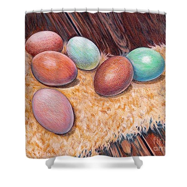 Soft Eggs Shower Curtain