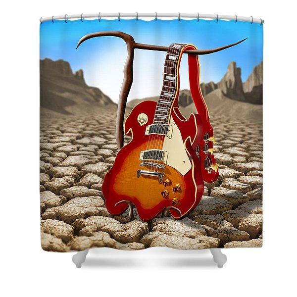 Soft Guitar II Shower Curtain