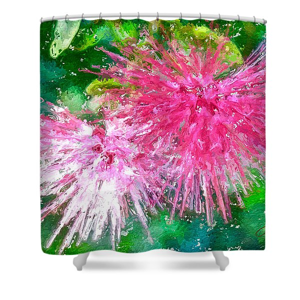 Soft Pink Flower Shower Curtain