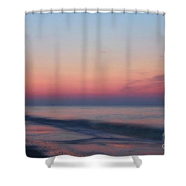 Soft Pink Sunrise Shower Curtain