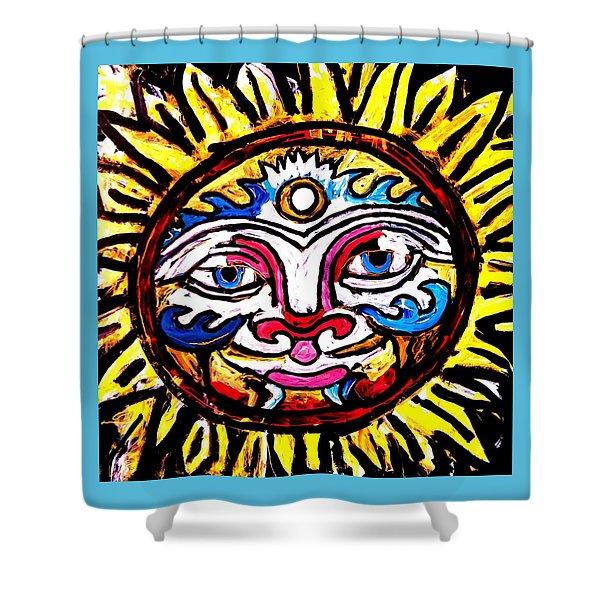 Sol Horizon Band Shower Curtain