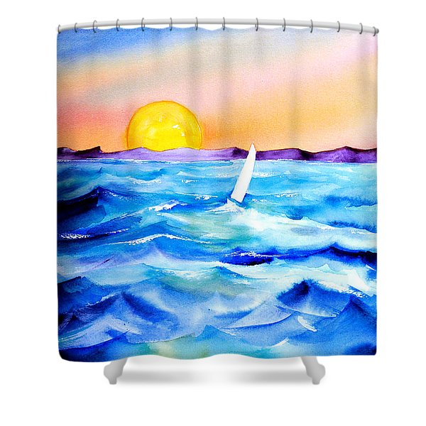 Sol Searching Shower Curtain