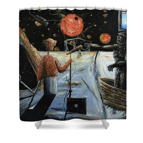 Solar Broadcast -transition- Shower Curtain