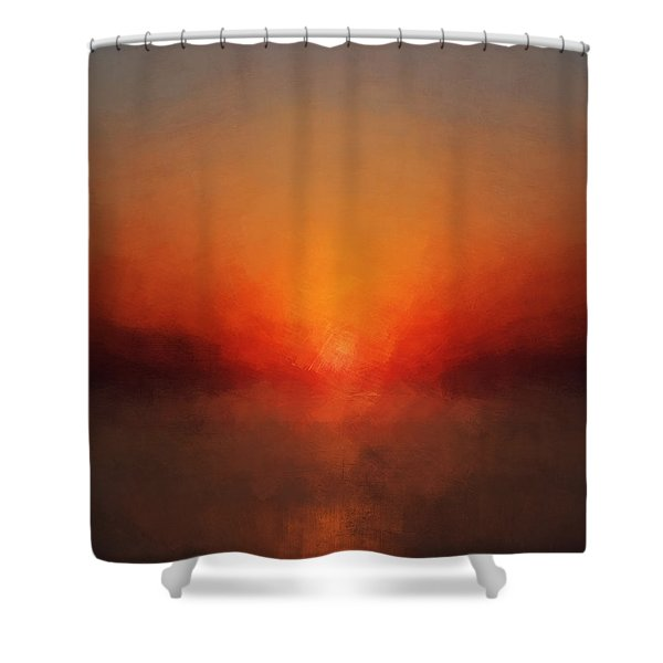 Solar Departure Shower Curtain