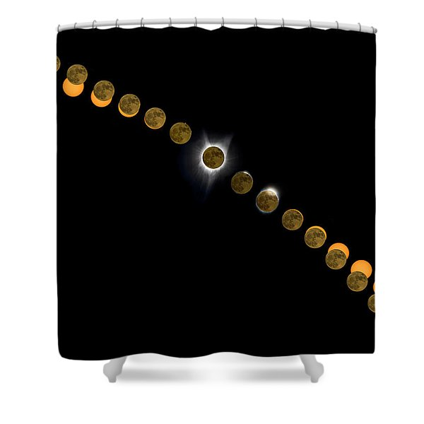 Solar Eclipse Stages 2017 Shower Curtain