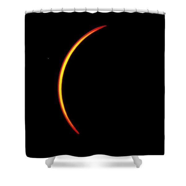 Solar Eclipse- Thin Crescent  Shower Curtain