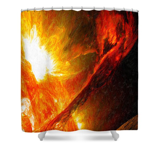 Solar Mass Ejection Shower Curtain