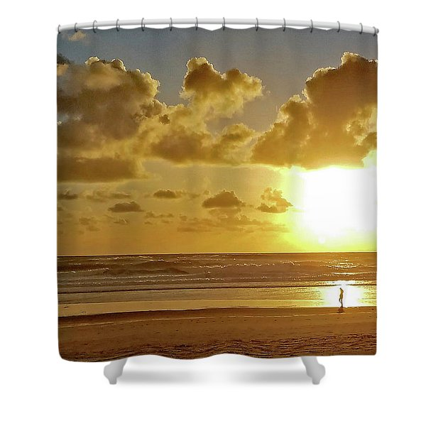 Solar Moment Shower Curtain