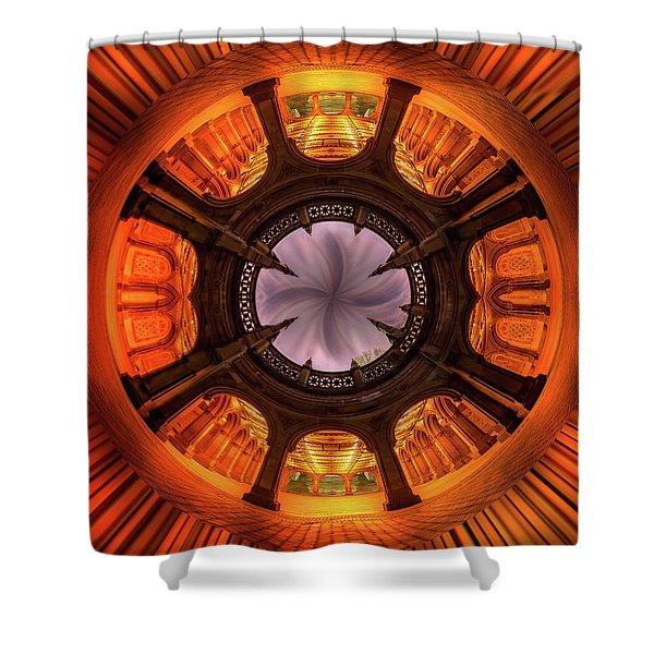 Solar Worship Shower Curtain