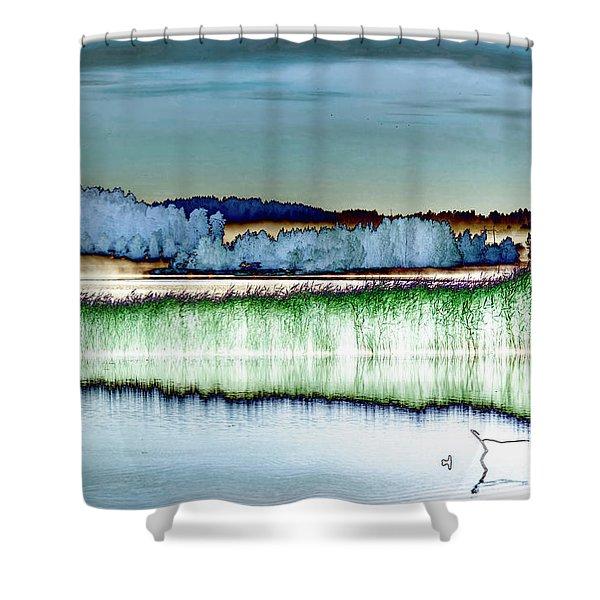Solarisation Shower Curtain
