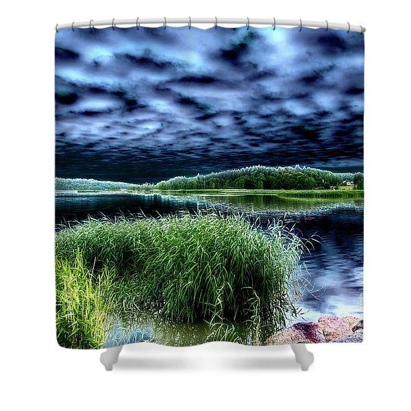 Solarisation4 Shower Curtain