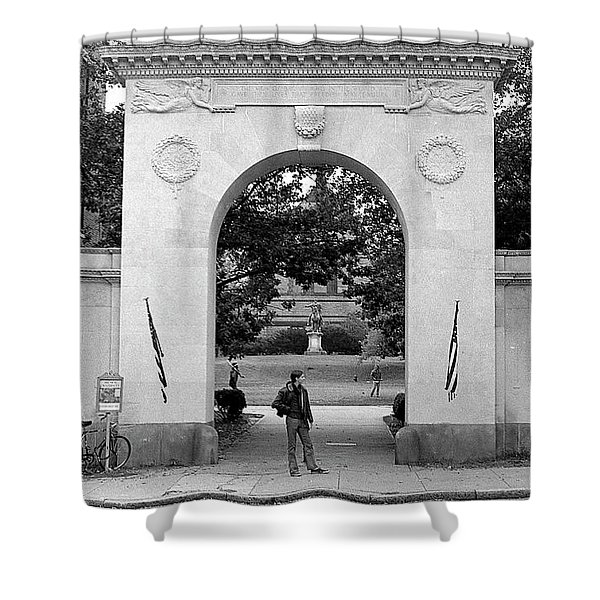 Soldiers Memorial Gate, Brown University, 1972 Shower Curtain