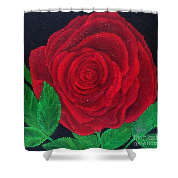 Solitary Red Rose Shower Curtain
