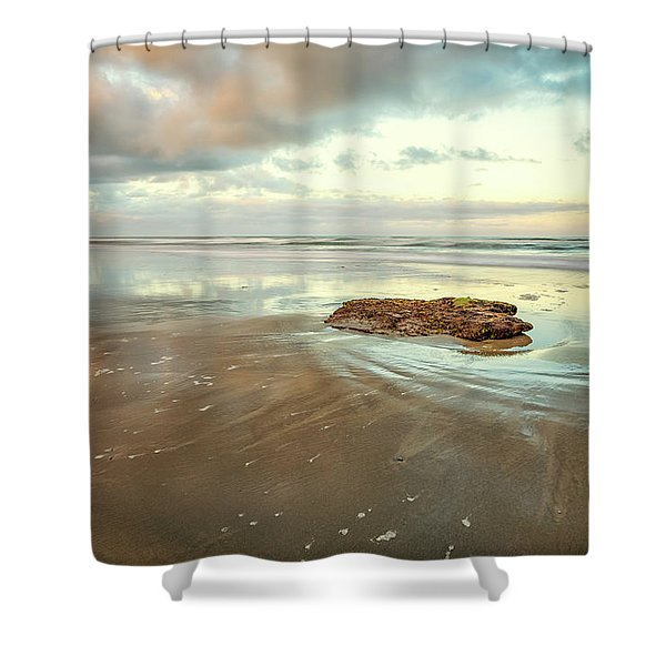 Solitary Rock Shower Curtain